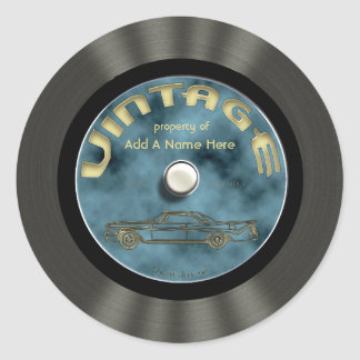 Vinyl Record Stickers Zazzle - Custom vinyl record decals