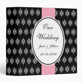 Personalized Vintage Wedding Scrapbook 3 Ring Binder