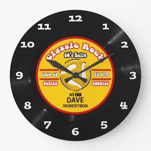 Personalized Vinyl 45 Record Wall Clock