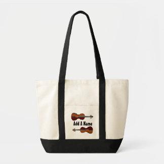 Personalized Viola Music Tote Bag
