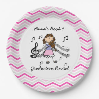 Personalized Violin Player Paper Plates 9 Inch Paper Plate