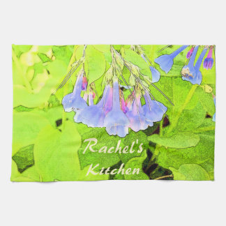 Personalized Virginia Blue Bells Flower Hand Towel