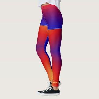 Personalized Vivid Rainbow with Fake Blue Shorts