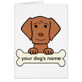 Personalized Vizsla Greeting Card