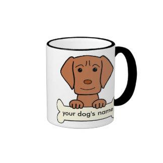 Personalized Vizsla Ringer Coffee Mug