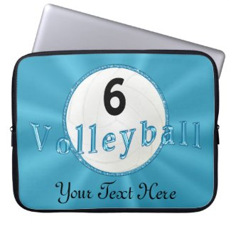 Personalized Volleyball Cases for Laptop Computers Laptop Sleeves