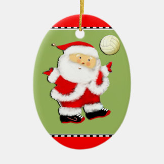 personalized volleyball ceramic ornament
