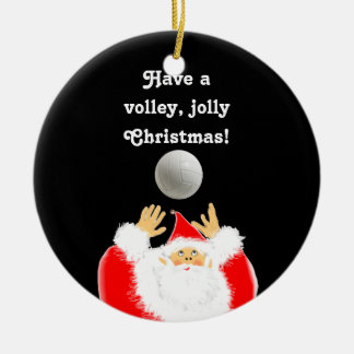 personalized volleyball Christmas Ceramic Ornament