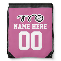 Personalized volleyball drawstring backpack bag