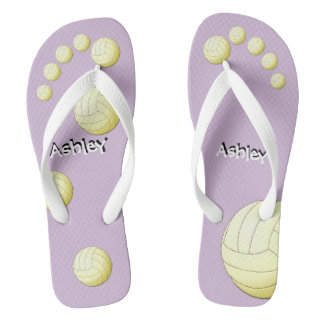 Personalized Volleyball Flip Flops