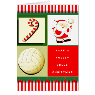 personalized volleyball holiday cards