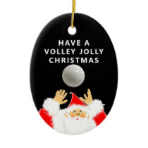 personalized volleyball keepsake ceramic ornament