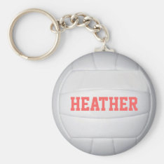 Personalized Volleyball Keychain at Zazzle