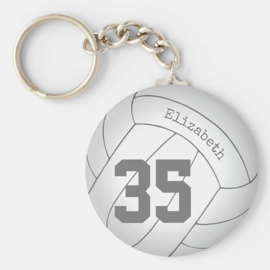 Personalized Volleyball Keychain Backpack Tag