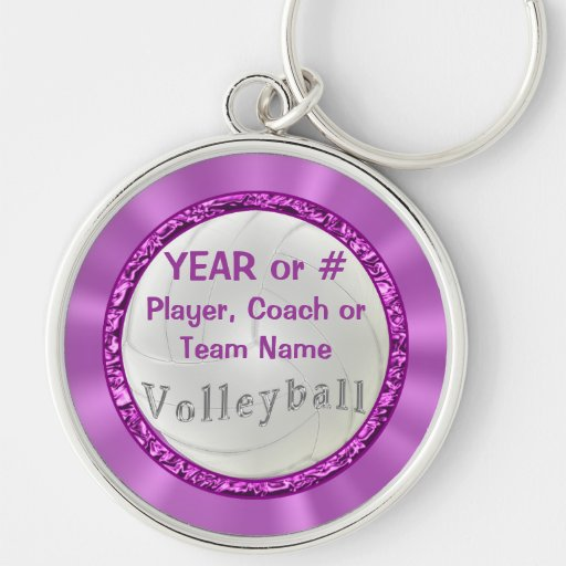 Personalized Volleyball Keychains Team and Coaches