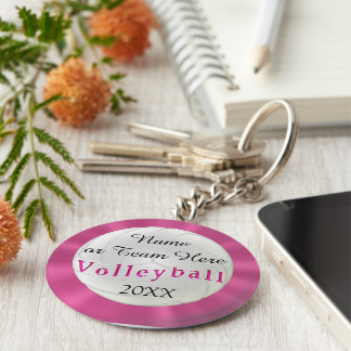 Personalized Volleyball Keychains with NAMES, YEAR