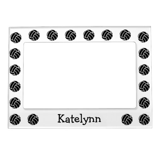 Personalized Volleyball Magnetic Photo Frame