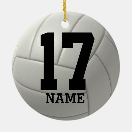 Personalized Volleyball Name And Team Number Ceramic