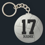 "Personalized Volleyball (name &amp; number) Keychain<br><div class=""desc"">Personalized volleyball key-chain.  Add your name and team number.</div>"