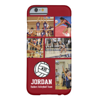 Personalized Volleyball Photo College Name Team # Barely There iPhone 6 Case