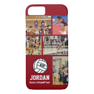 Personalized Volleyball Photo College Name Team # iPhone 8/7 Case