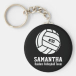 Personalized Volleyball Player Number, Name, Team Basic Round Button Keychain