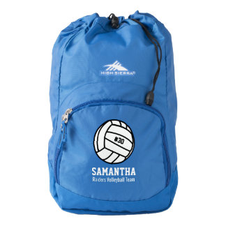 Personalized Volleyball Player Number, Name, Team High Sierra Backpack