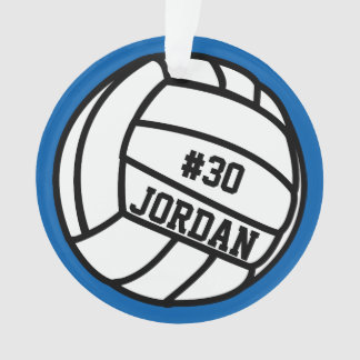Personalized Volleyball Player Number, Name, Team Ornament