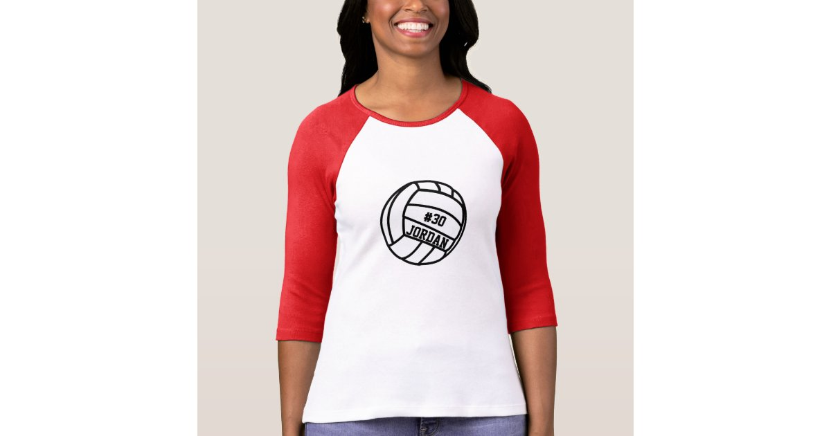 Personalized Volleyball Player Number Name Team T Shirt