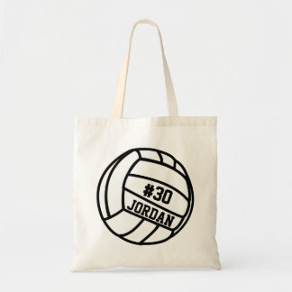 Personalized Volleyball Player Number, Name, Team Tote Bag