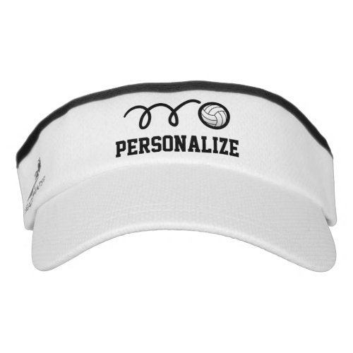 Personalized volleyball sun visor for men or women