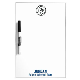 Personalized Volleyball Team, Player Name & Number Dry-Erase Board