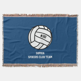 Personalized Volleyball Team, Player Name & Number Throw Blanket