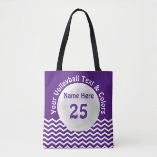 Personalized Volleyball Tote Bag Your Colors, Text
