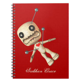 Personalized Voodoo Doll And Pins Notebook