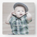 Personalized Wall Clock Baby Photo