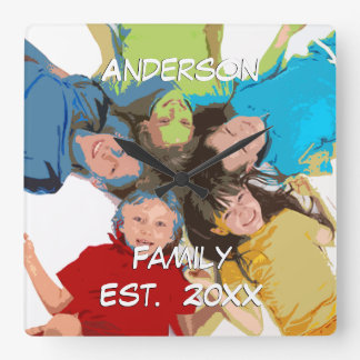 Personalized Wall Clock Family or Couple's Photo