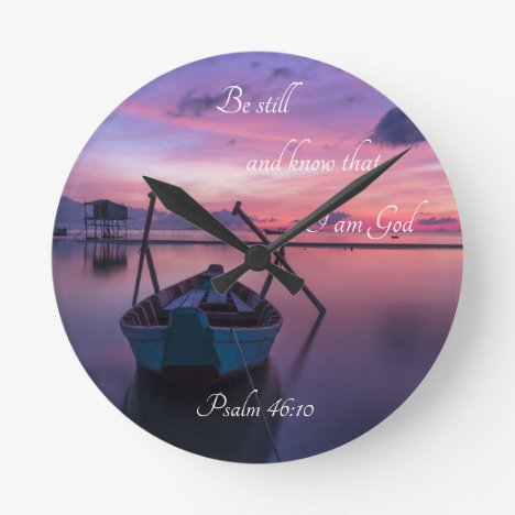 Personalized Wall Clock with Bible Verse