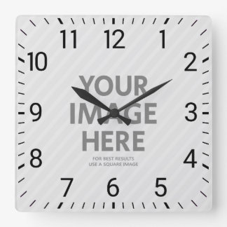 Personalized Wall Clocks Custom Big Square Photo