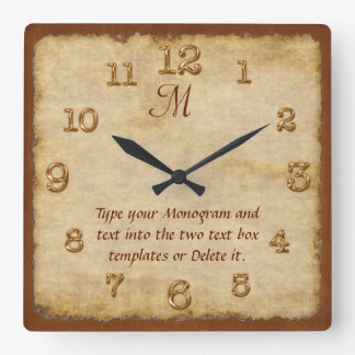 Personalized Wall Clocks YOUR MONOGRAM and TEXT