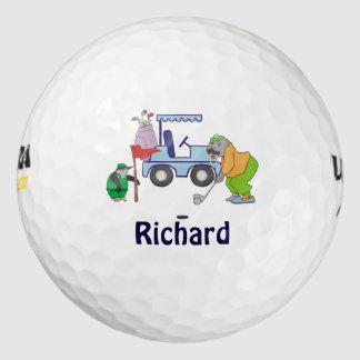 Personalized Walrus Golf Penguin Caddie Golf Balls