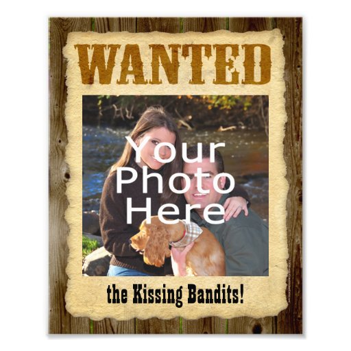 Personalized Wanted Poster, Large Photo w/Text