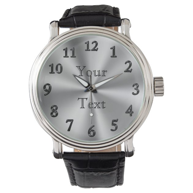 personalized large number watches for zazzle