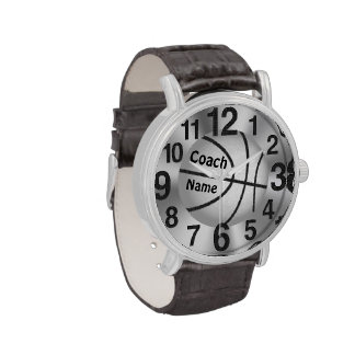 """Personalized Watches for Coaches """"Coach"""" and NAME"""