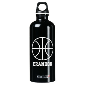 Personalized water bottle for basketball player SIGG traveler 0.6L water bottle
