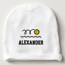 Personalized water polo ball baby beanie hat