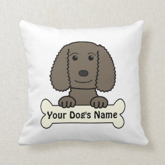 Personalized Water Spaniel Throw Pillow