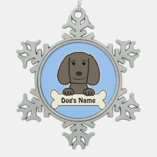 Personalized Water Spaniel Snowflake Pewter Christmas Ornament