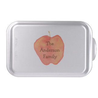 Personalized Watercolor Apple Cake Pan