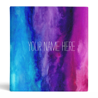 Personalized Watercolor Binder